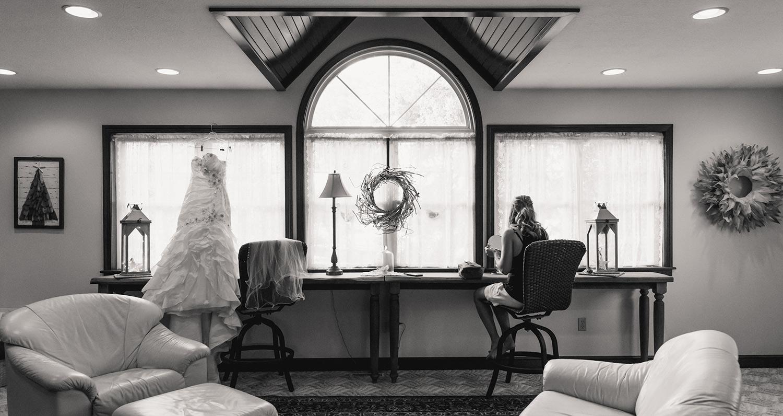 Wedding reception bride suite